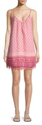 Design Lab Brick Printed Twofer Cami Dress