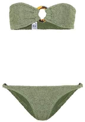 Hunza G Glitter Gloria bandeau bikini