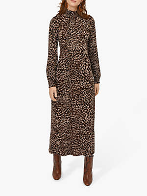 Warehouse Leopard Midi Dress, Multi