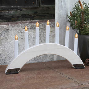 Weißer Kerzenleuchter Viking Bow 7-flammig