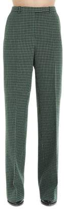 Givenchy Flared Checkered Trousers
