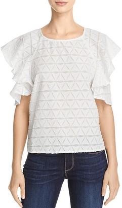 JOA Ruffle-Sleeve Top $75 thestylecure.com