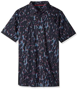 Perry Ellis Men's Big and Tall Short Sleeve Abstract Line Shirt