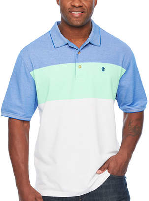 Izod Advantage Performance Colorblock Polo Short Sleeve Stripe Knit Shirt Big and Tall