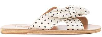 Ancient Greek Sandals Ancient Greek Thais Black And White Polka Dot Leather Sandals
