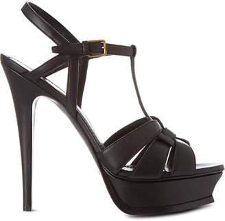 Saint Laurent Classic tribute sandals in black leather