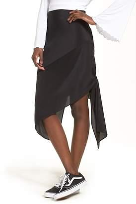Topshop Silk Knot Side Skirt