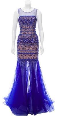 Terani Couture Sleeveless Embellished Gown w/ Tags