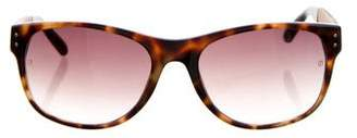 Linda Farrow Snakeskin-Trimmed Gradient Sunglasses