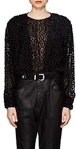 Isabel Marant Women's Midway Dotted Fil Coupé Chiffon Blouse - Black