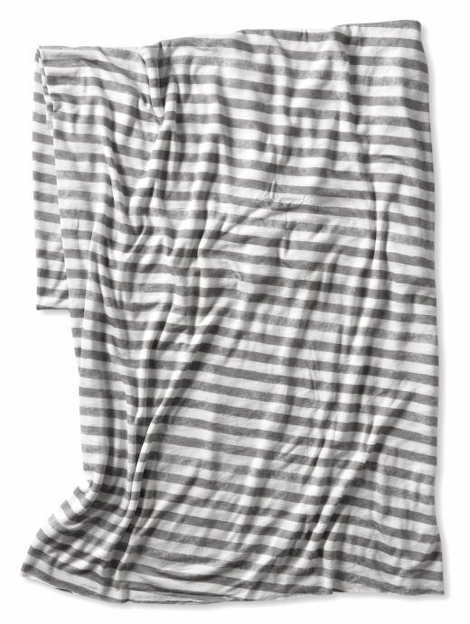 Jersey striped scarf