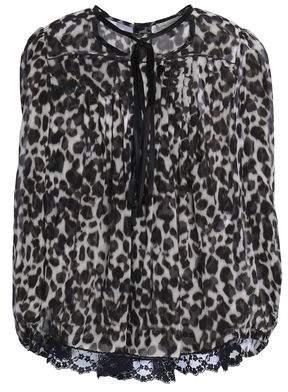 Marc Jacobs Leopard-Print Silk Top