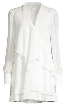 Parker Women's Kenji Tiered Ruffle Shift Shirtdress