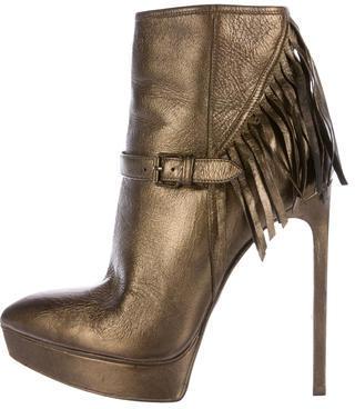 Saint LaurentSaint Laurent Janis 105 Fringed Ankle Boots