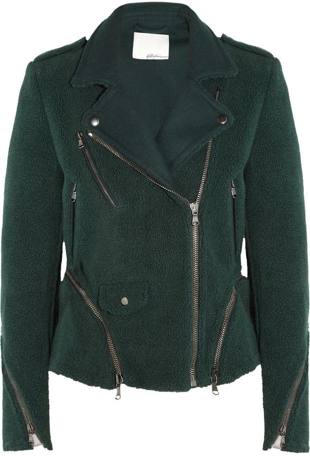 3.1 Phillip Lim Fleece biker jacket