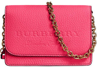 Burberry embossed logo chain wallet