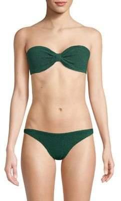 Hunza G Jean Two-Piece Strapless Bikini Set