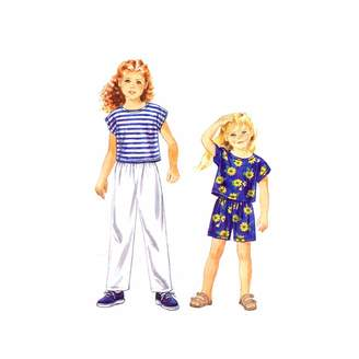 Simplicity 9467 Sewing Pattern Toddlers Childrens Girls Pants Shorts Top Size 2 - 6X