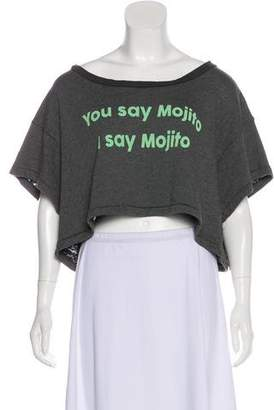 Wildfox Couture Graphic Crop Top w/ Tags