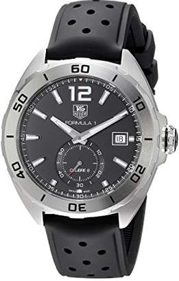 Tag Heuer Men's Automatic Stainless Steel and Rubber Casual Watch