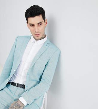 Heart N Dagger skinny wedding suit jacket in herringbone tweed