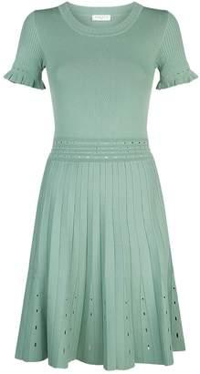 Sandro Cut Out Knit Mini Dress