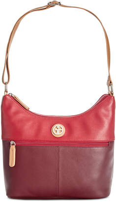 Giani Bernini Leather Bucket Colorblock Hobo, Created for Macy's