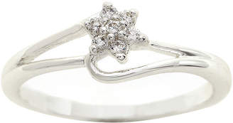 JCPenney THE SKINNY the skinny Cubic Zirconia Flower Bypass Ring