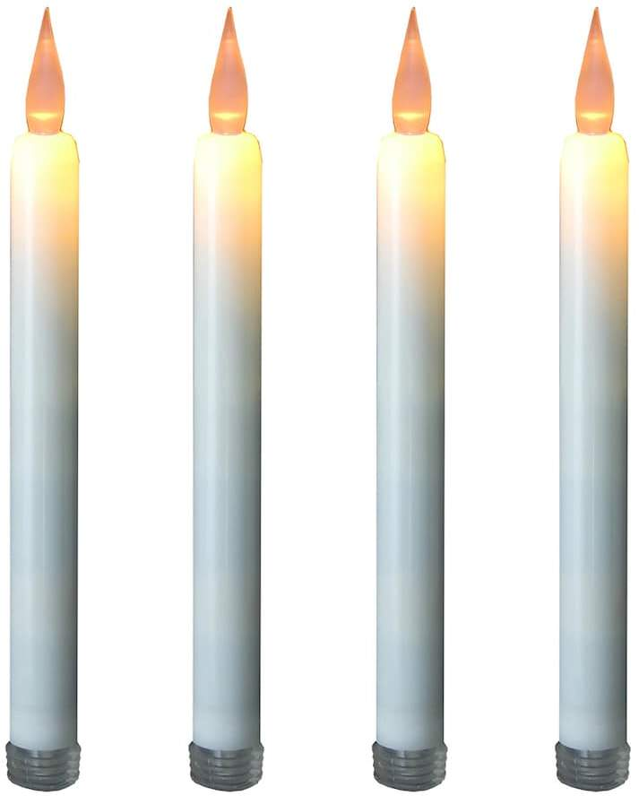 Lumabase LumaBase LED Taper Candle 4-piece Set