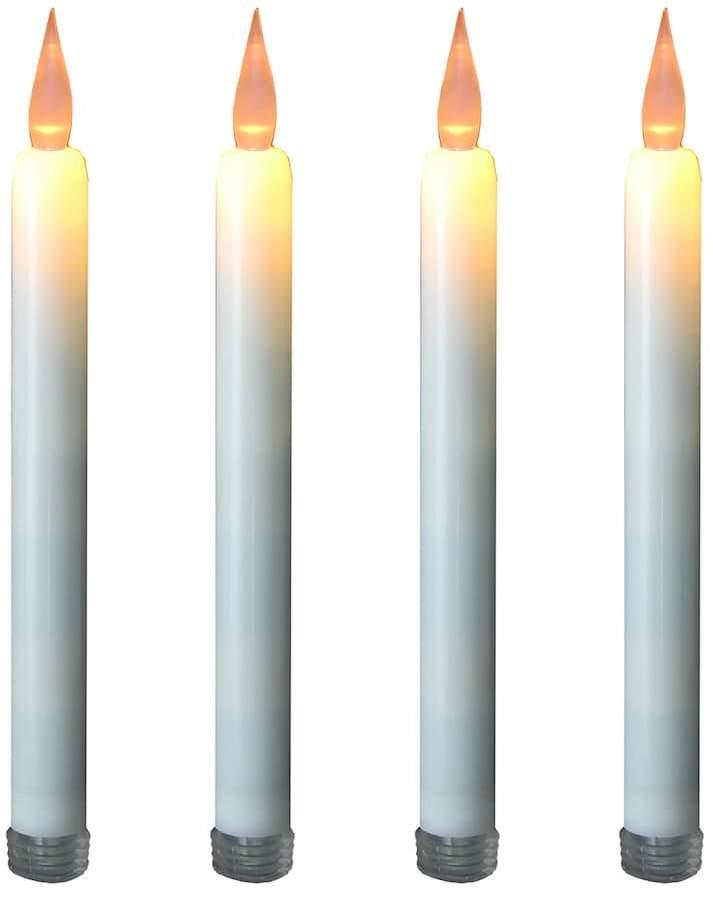 Lumabase LumaBase LED Taper Candle 4-piece Set