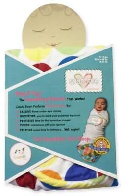 Go Mama Go Designs Snug & Tug Small Swaddling Blanket in Rainbow Love