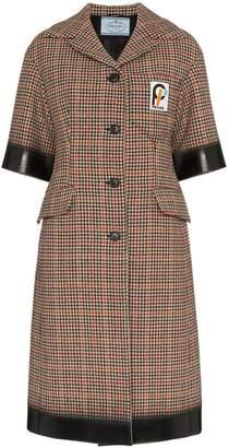 Prada short sleeved tweed coat