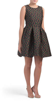 Made In Italy Sleeveless Fit & Flare Dress