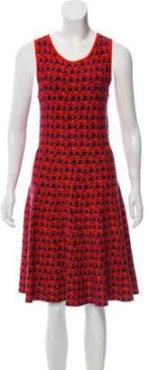 Issa Sleeveless Printed Knee-Length Dress