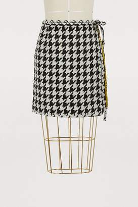 Off-White Off White Houndstooth wool skirt