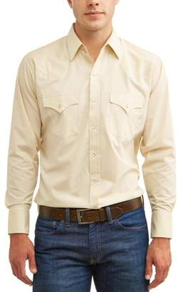 Plains Big and Tall Men's Long Sleeve Solid Western Shirt