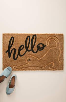 Anthropologie Stretching Cat Doormat