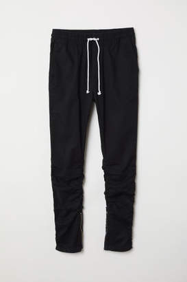 H&M Cotton Twill Joggers - Black