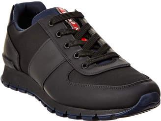 Prada Sport Match Race Leather Sneaker