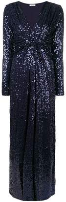 P.A.R.O.S.H. twisted front sequin gown