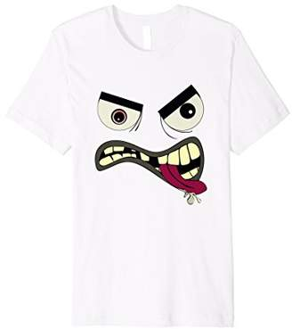 Happy Monster Costume T-Shirt Halloween Cute Funny Face Tee