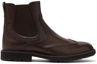 Tod's Leather brogue chelsea boots