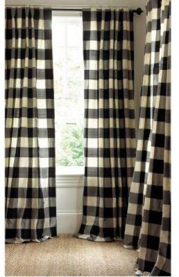 Matignon Silk Checked Curtain