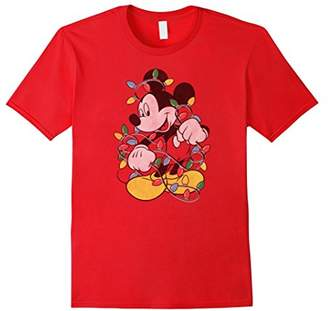 Disney Mickey Mouse Christmas Lights T Shirt