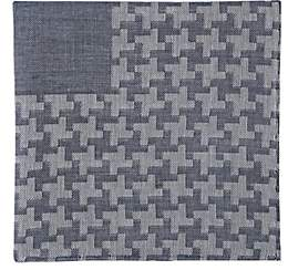 Simonnot Godard Men's Geometric-Pattern Cashmere-Blend Handkerchief-Navy