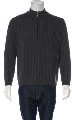 Saint James Woven Half-Zip Sweater