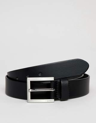 Esprit Smart Leather Belt In Black