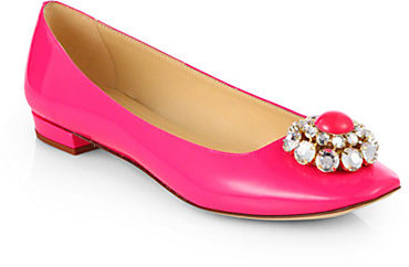 Kate Spade Notion Jeweled Patent Leather Ballet Flats