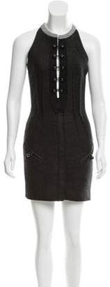 Isabel Marant Pleat-Accented Mini Dress navy Pleat-Accented Mini Dress