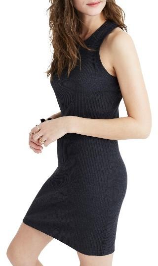 Women's Madewell Celine Rib Tank Dress